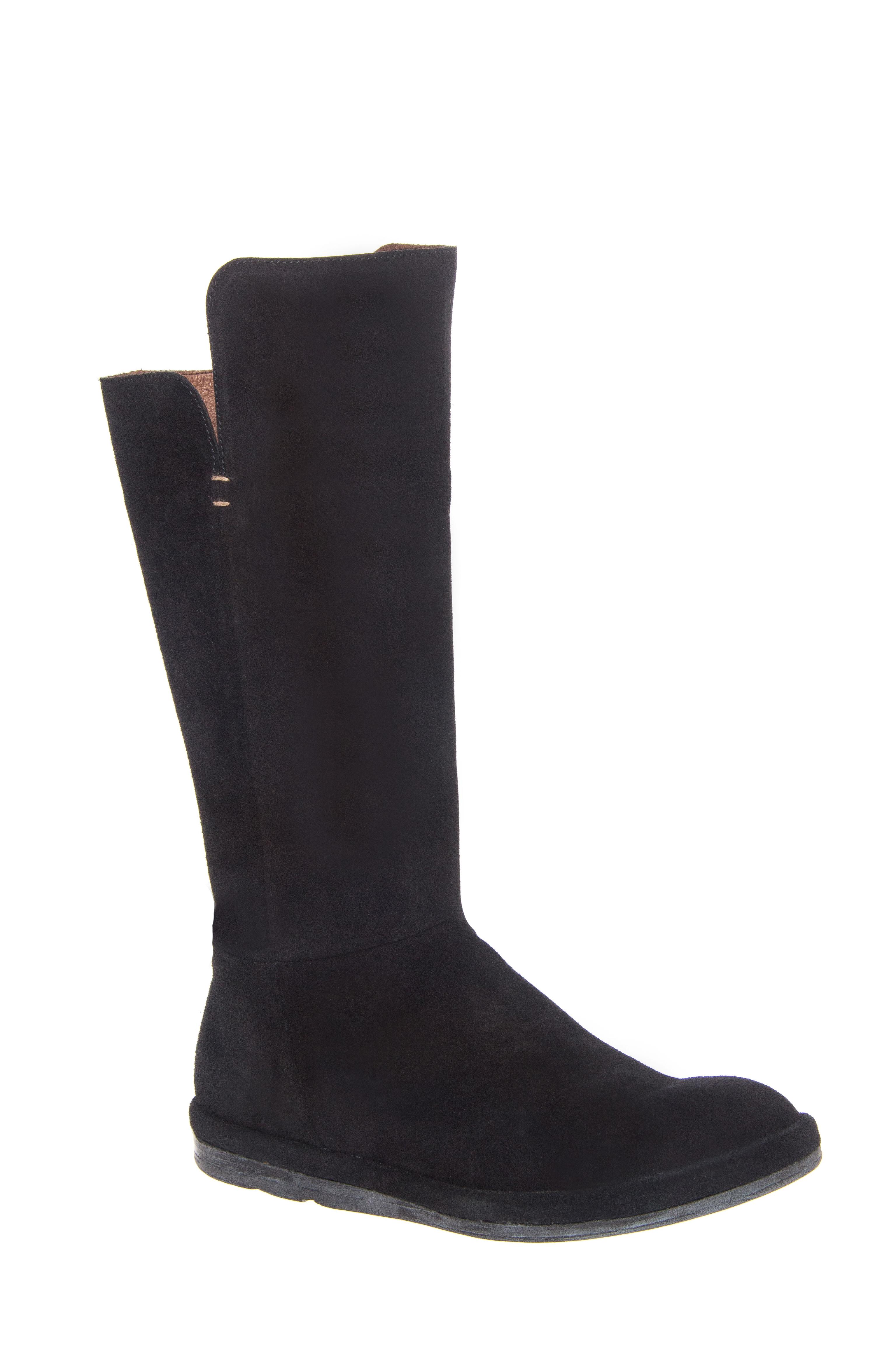 Eric Michael Ella Mid Calf Flats Boots - Black