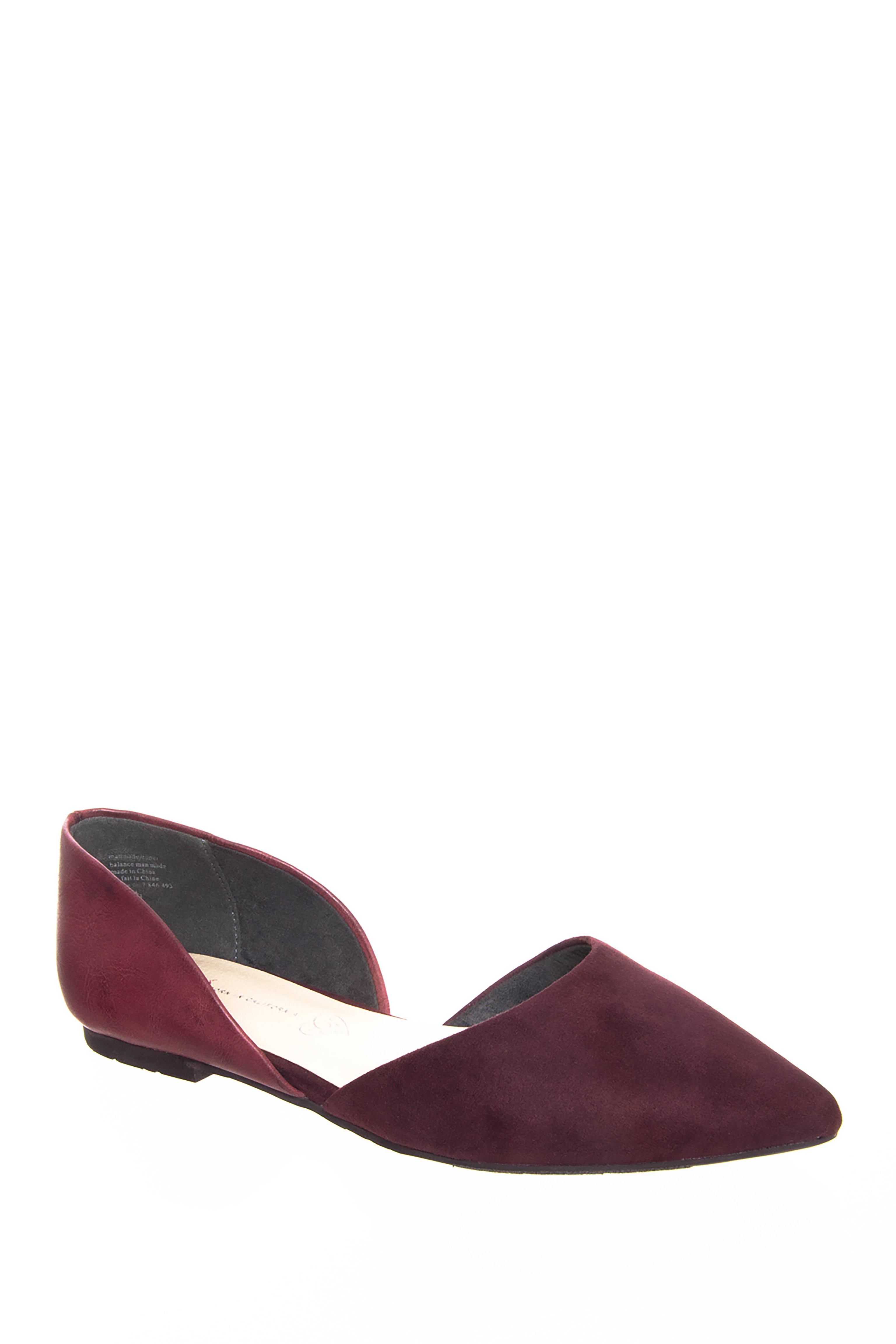 BC Footwear Society d'Orsay Flats - Burgundy