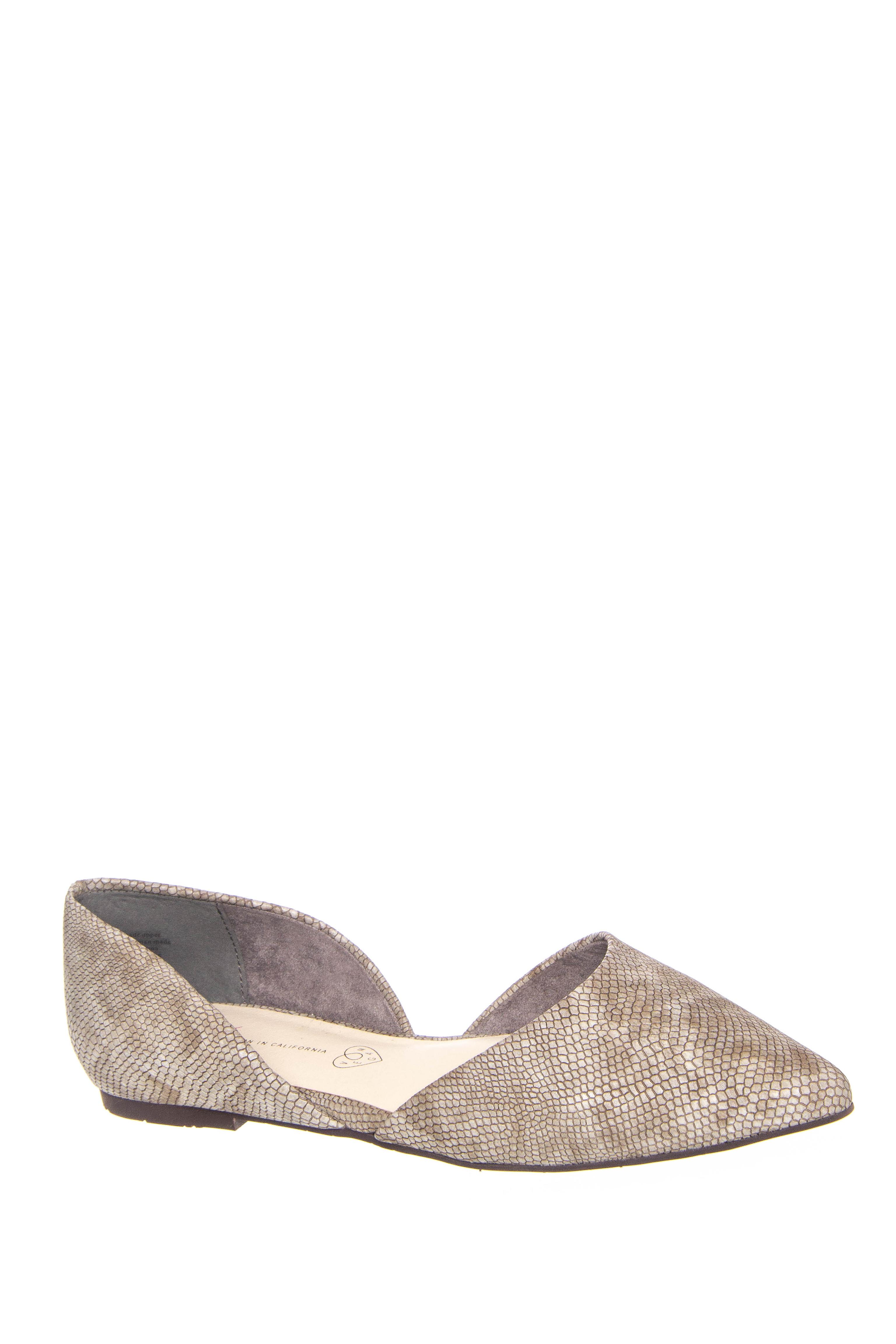 BC Footwear Society d'Orsay Flats - Grey Lizard