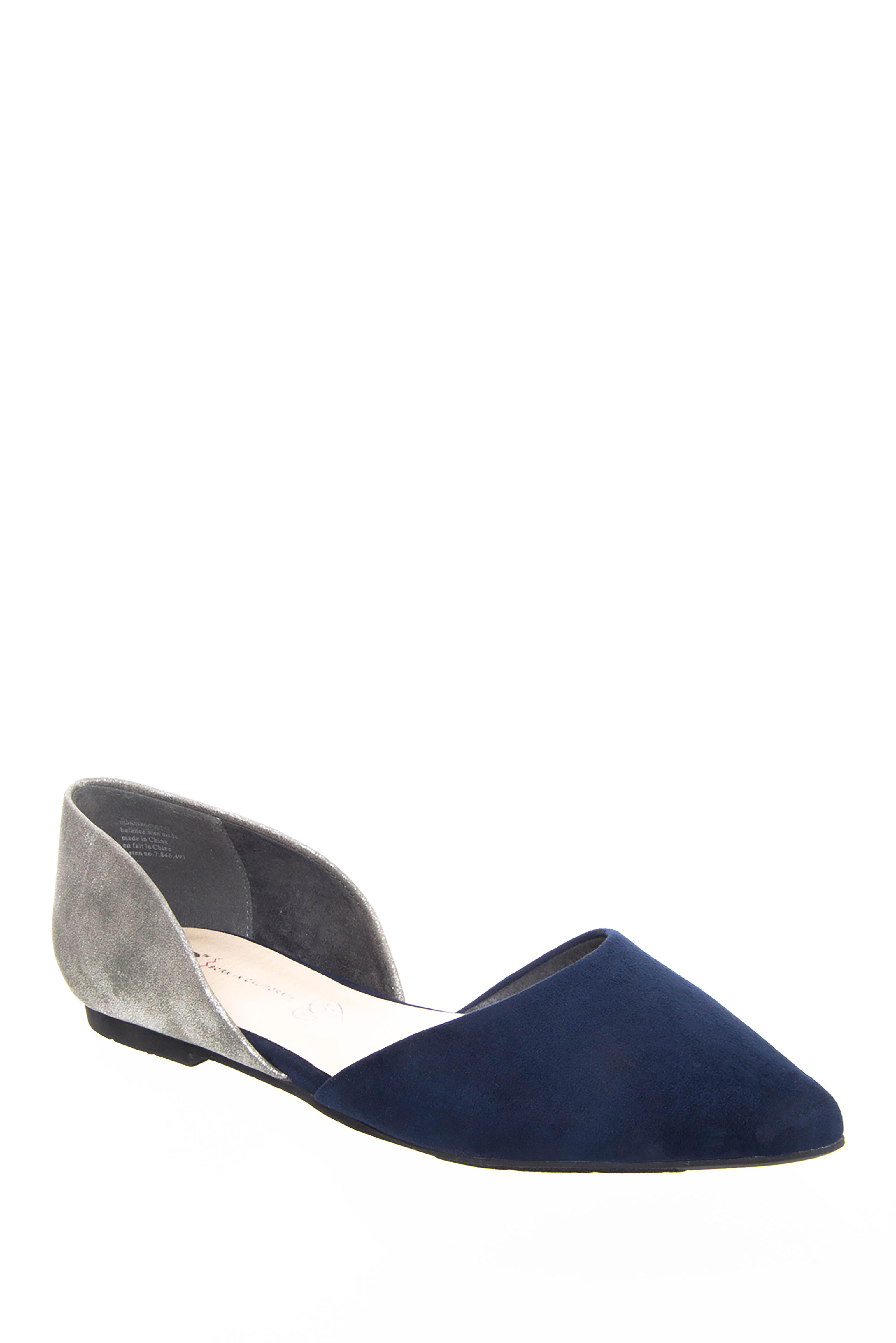 BC Footwear Society d'Orsay Flats - Navy / Pewter