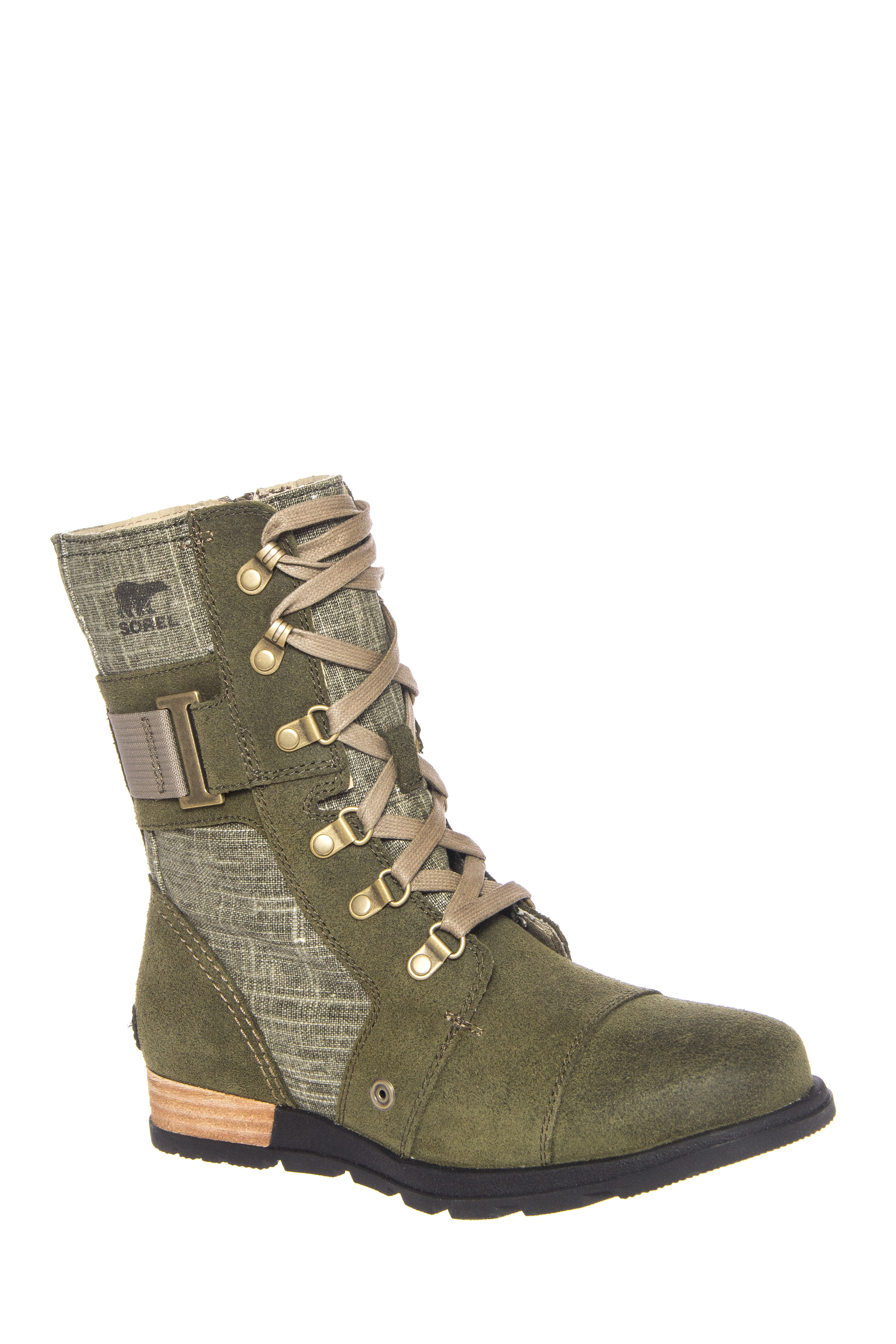 Sorel Major Carly Low Wedge Boots - Nori / Pebble