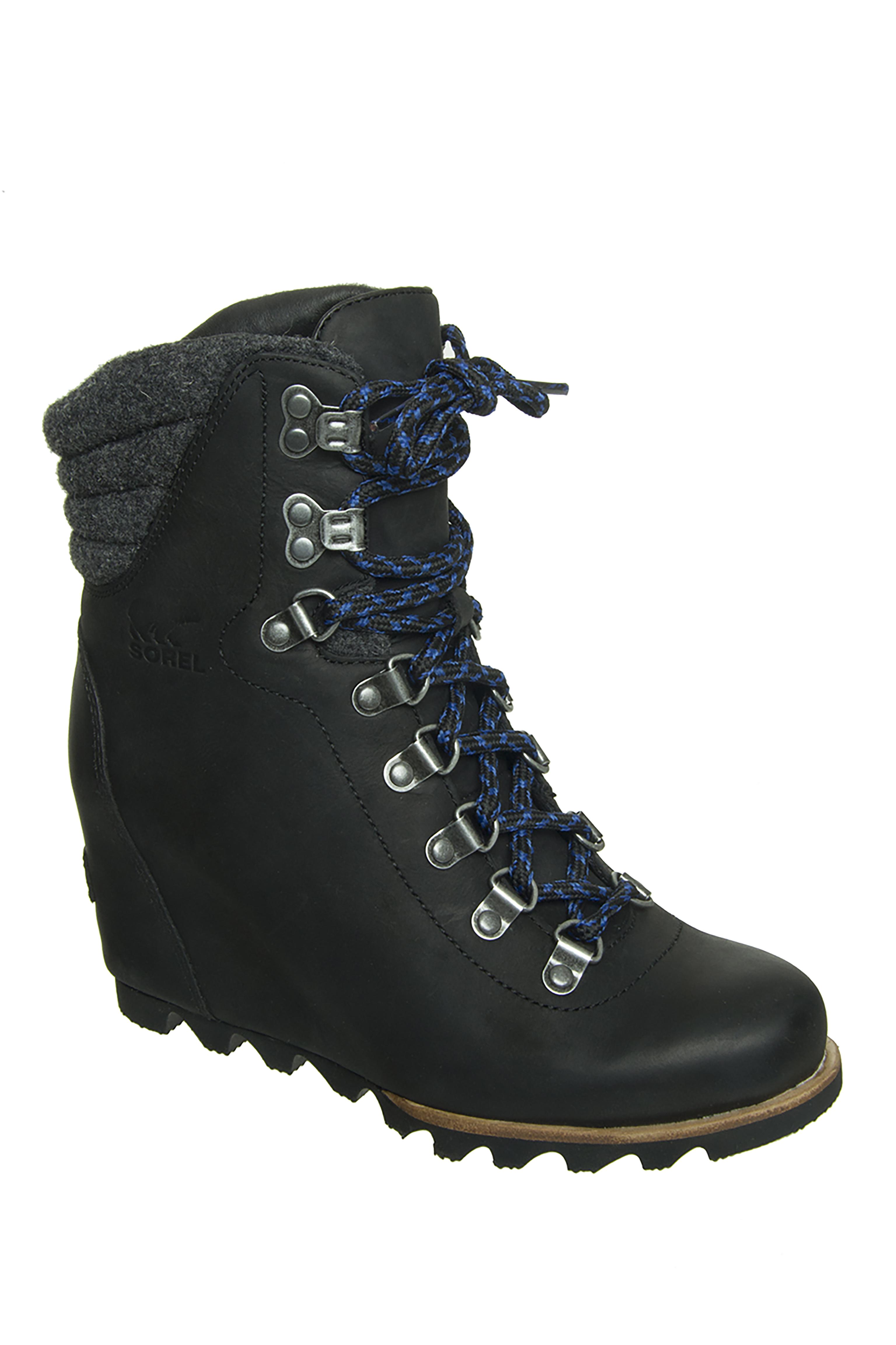 Sorel Conquest Wedge Rain Boots - Black
