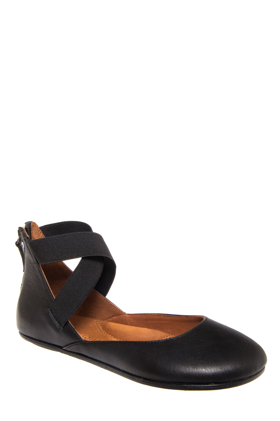 Gentle Souls Bay Unique Flats Shoes - Black Leather