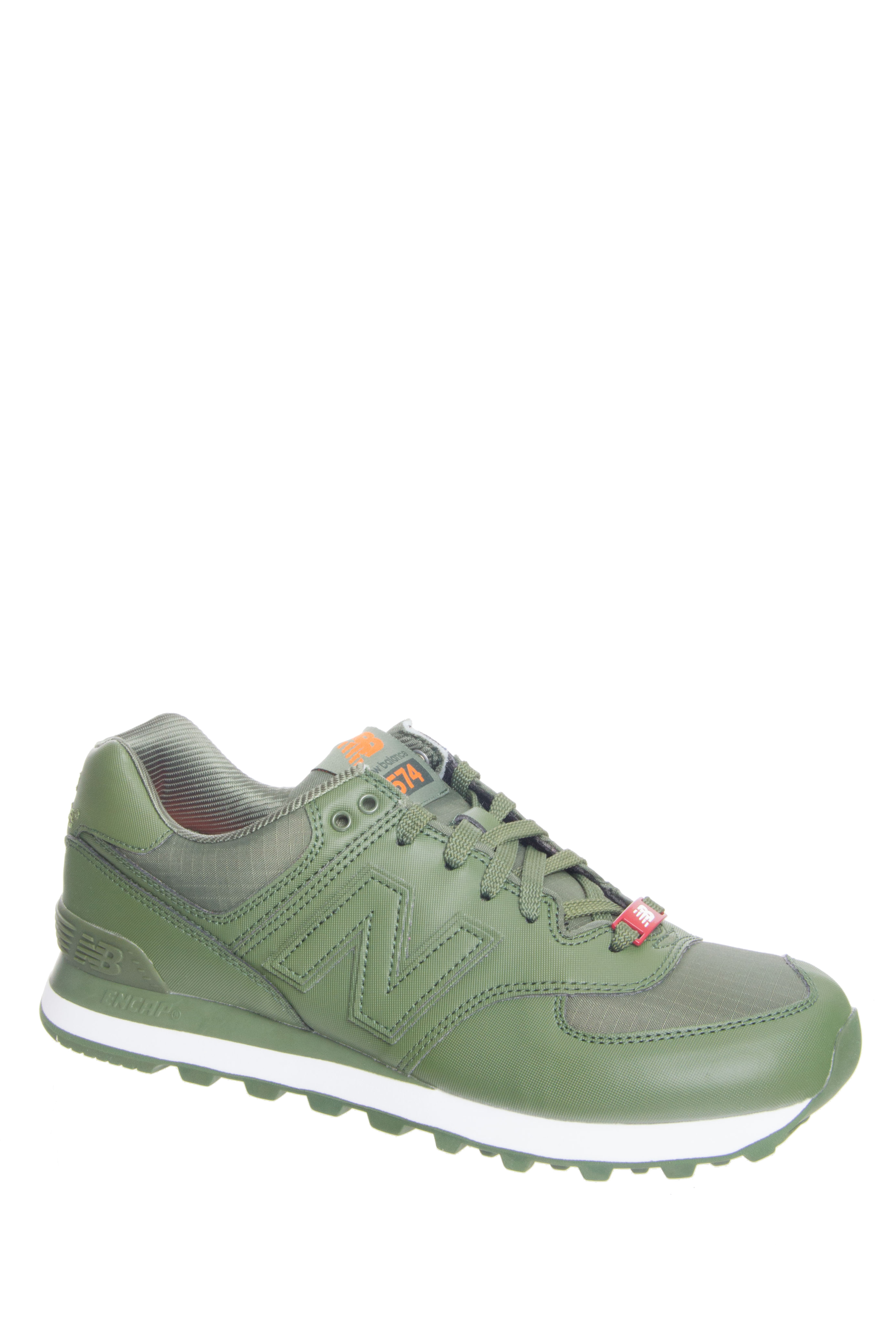 New Balance Men's 574 Flight Jacket Pack Low Top Sneaker - Green