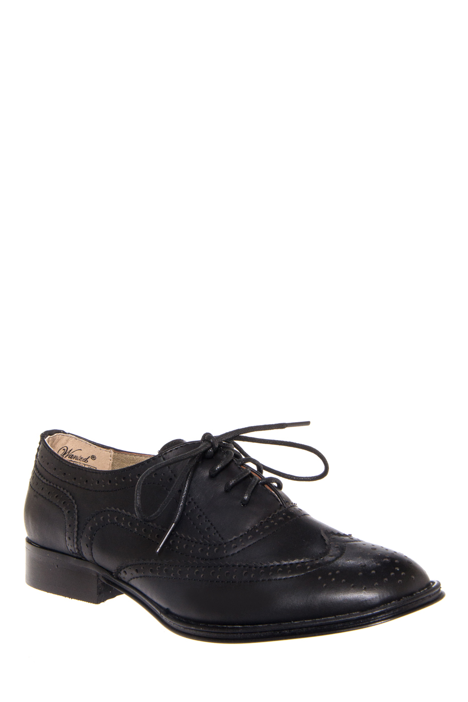 Wanted Babe Low Heel Oxford - Black