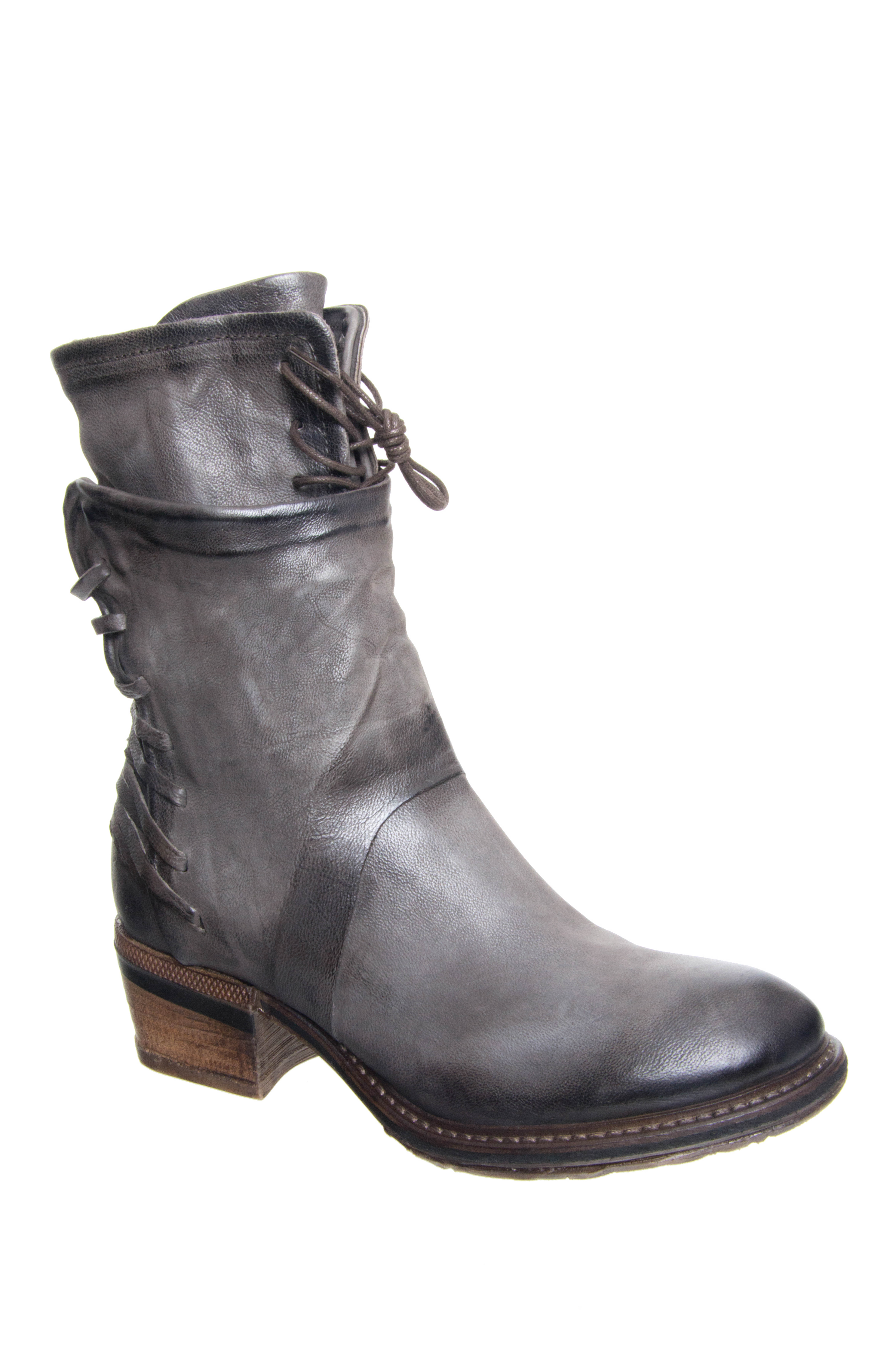 A.S.98 Chet Mid Heel Boots - Smoke