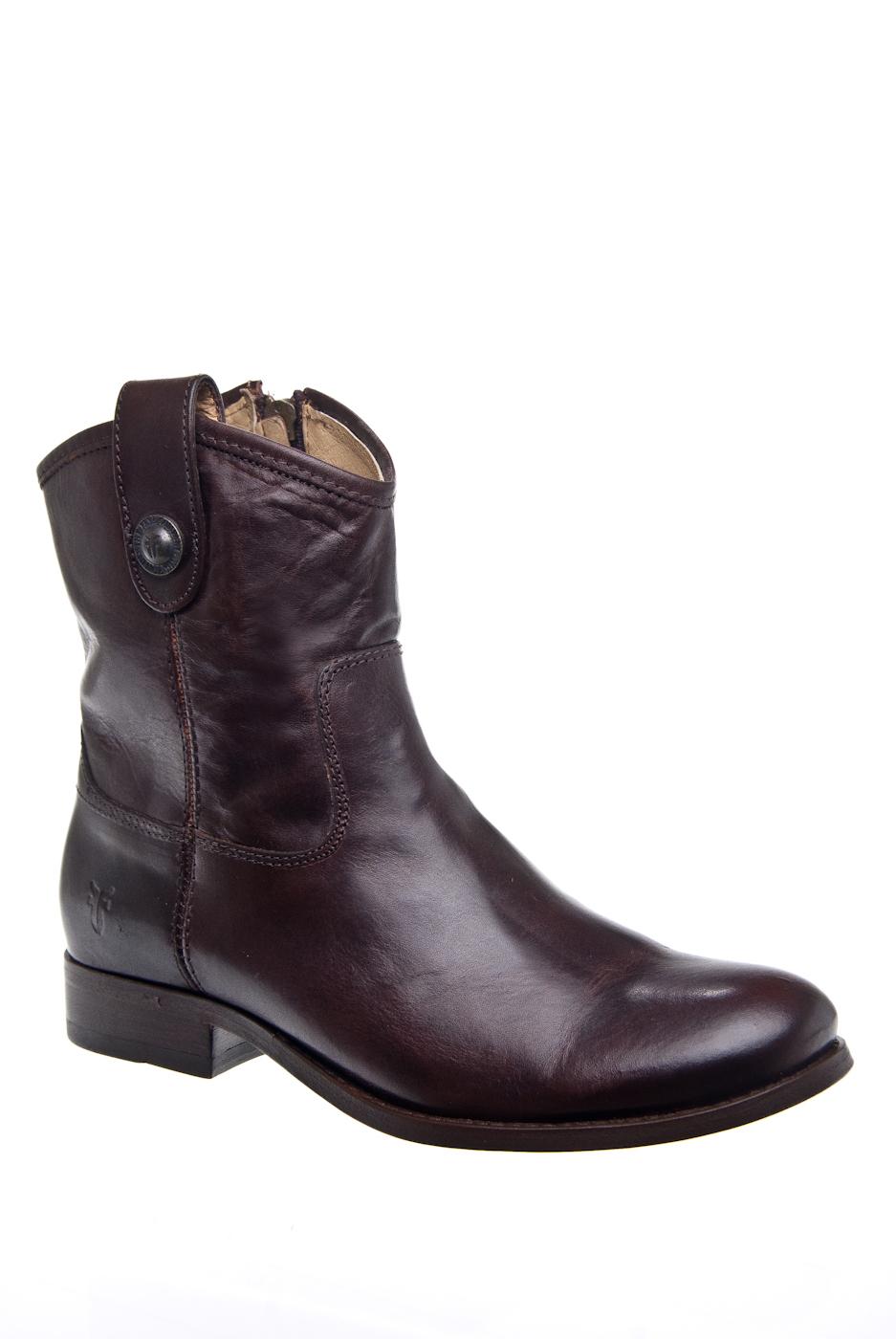 Frye Melissa Button Shortie 77897 Booties - Dark Brown