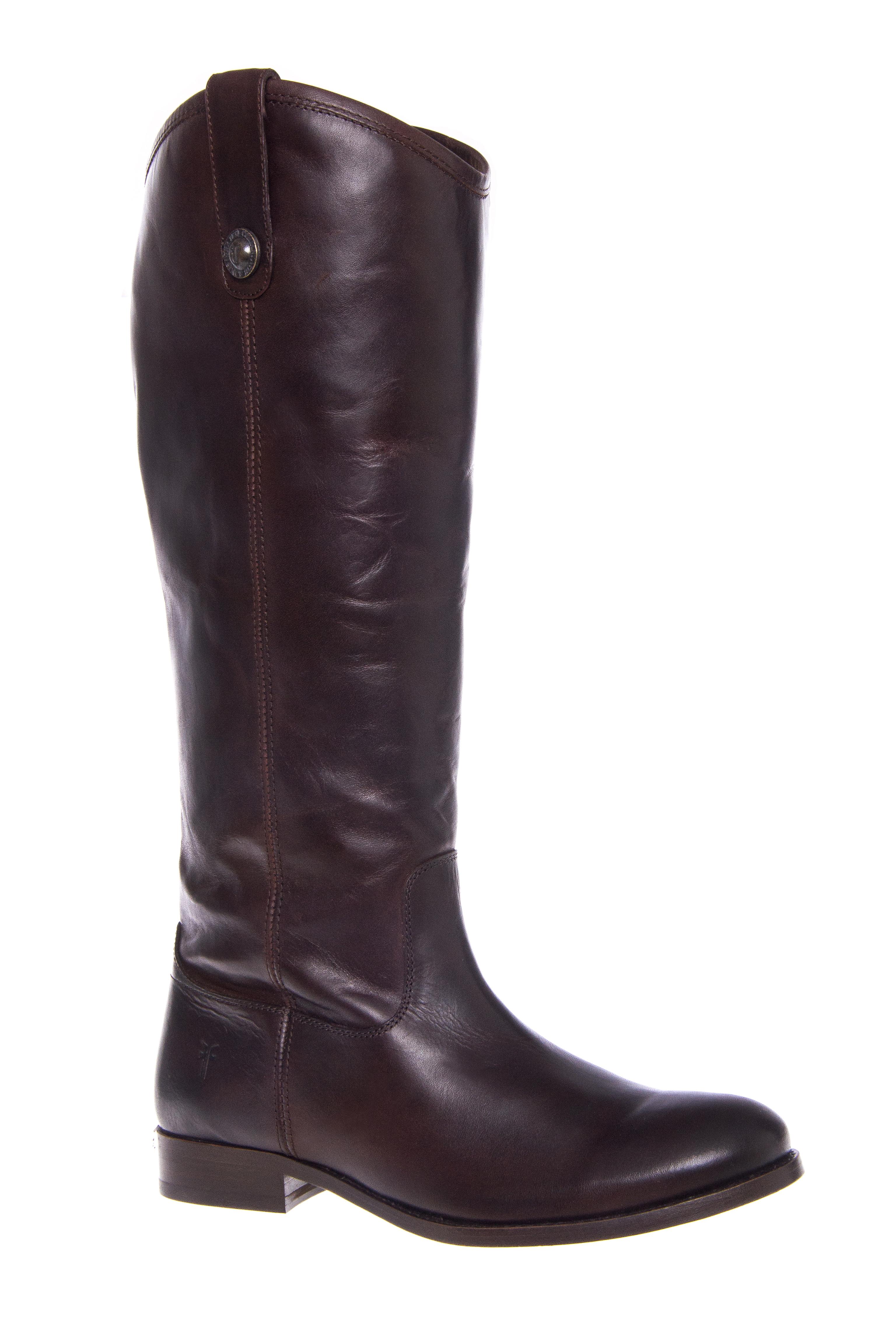 Frye Melissa Button Riding Boots - Dark Brown