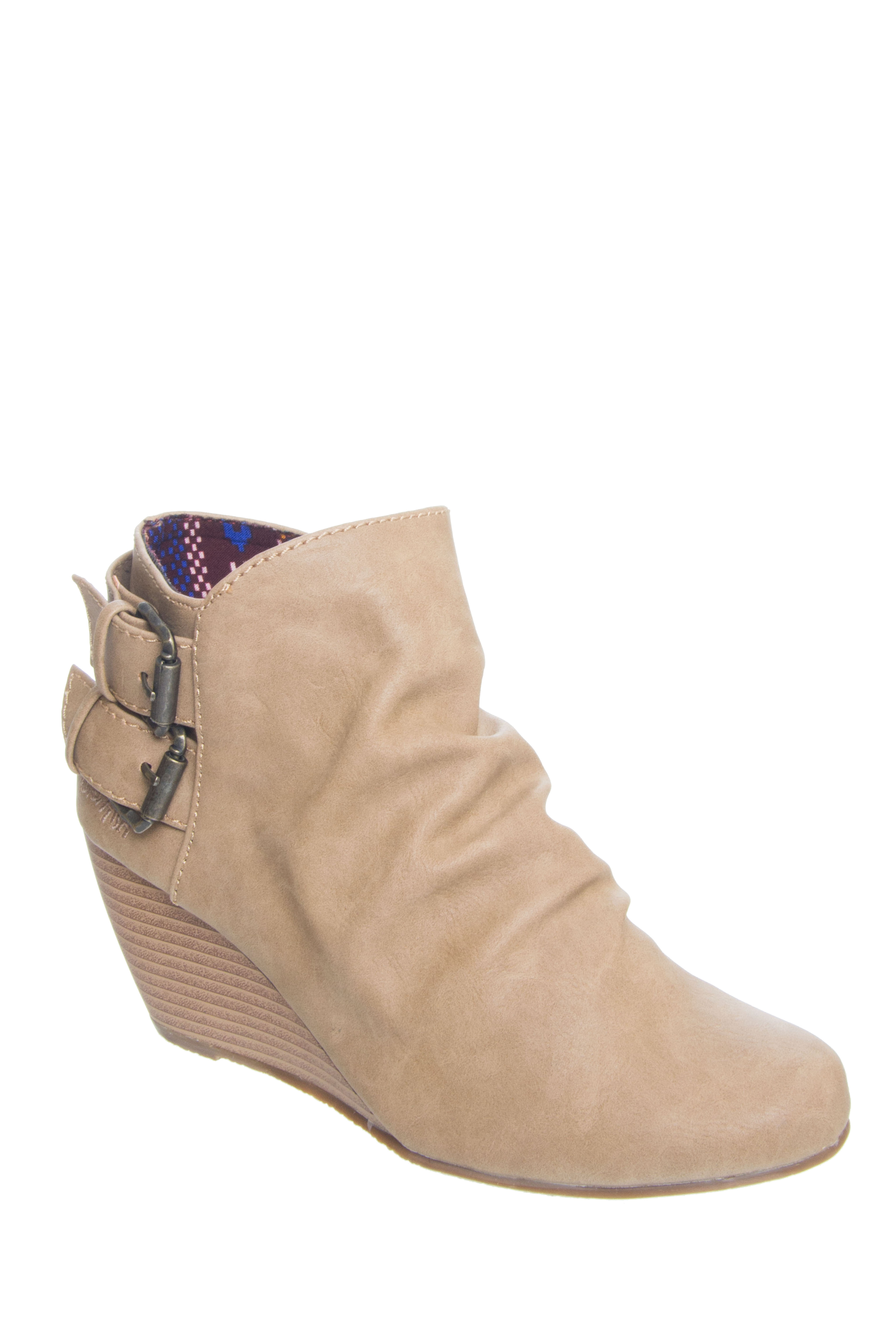 Blowfish Bug Mid Heel Booties - Sand