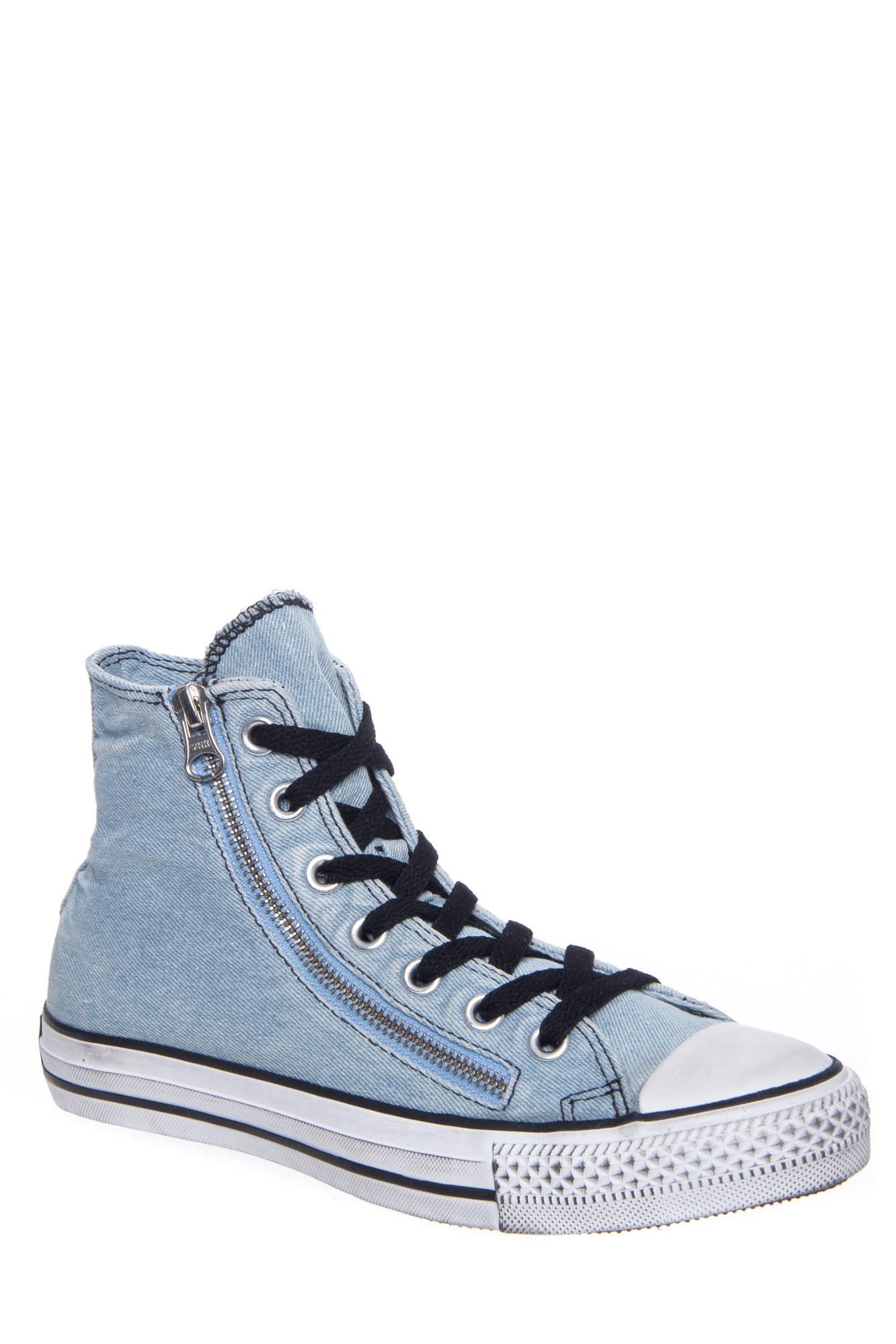 627fadd99619 Denim Double Zip UPC 886954515339 product image for Converse Unisex Chuck  Taylor Double Zip Hi Top Sneaker - Light ...