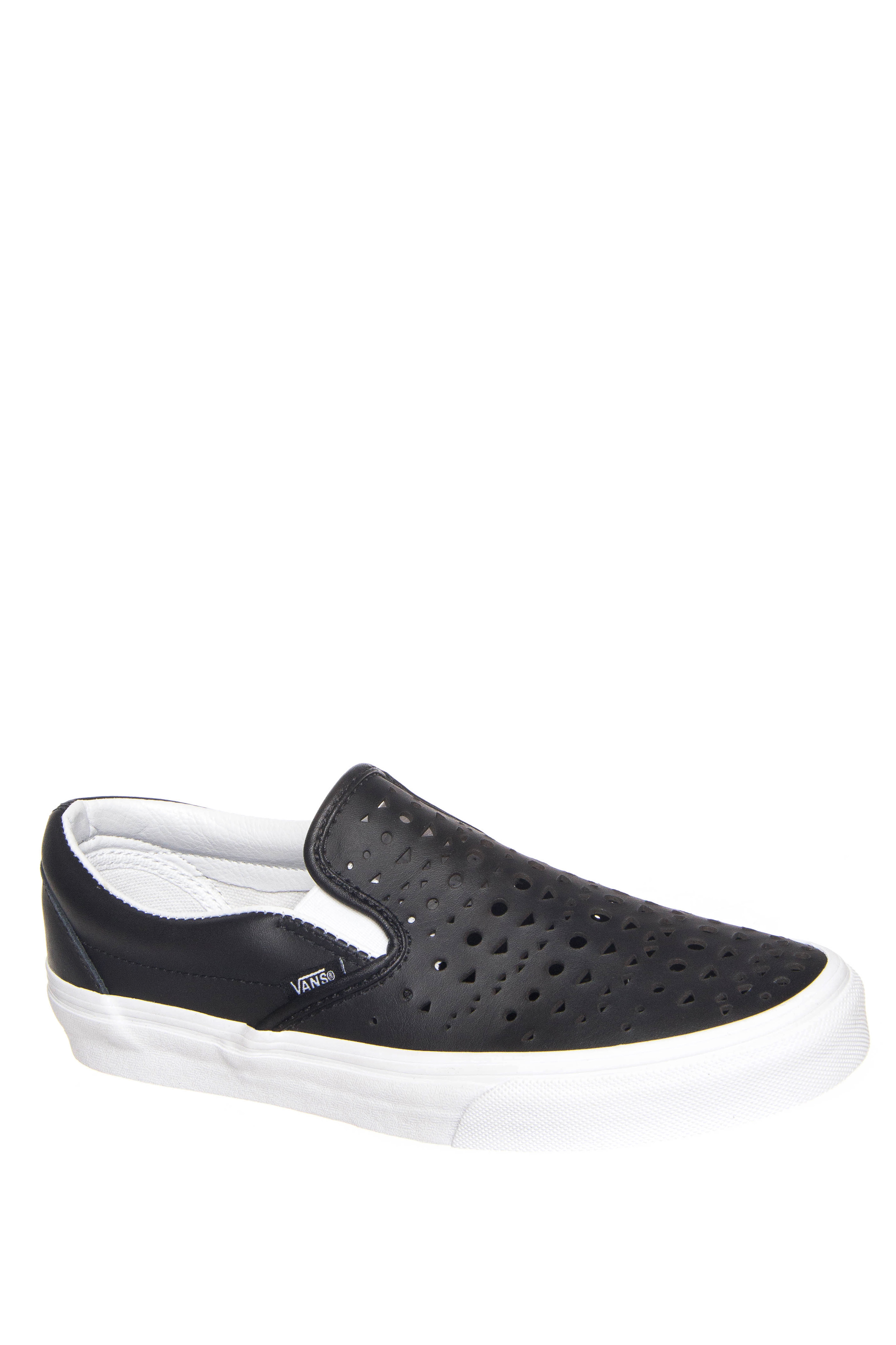 Vans Classic Cut Out Geo Slip-On Sneakers - Black / Blanc