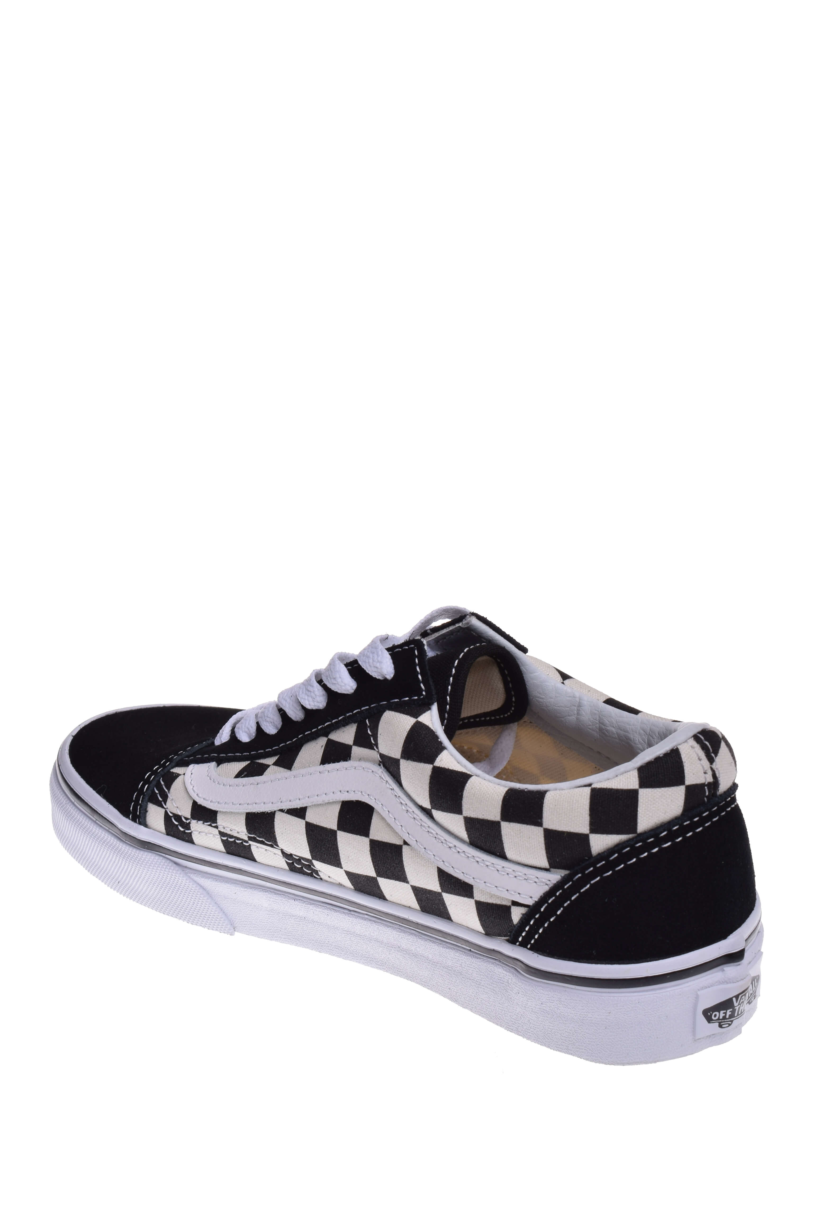 2c7f39472a1c Vans VN0A38G1P0S Unisex Old Skool Primary Canvas and Suede Sneakers -  (Checkerboard) Black   Off White