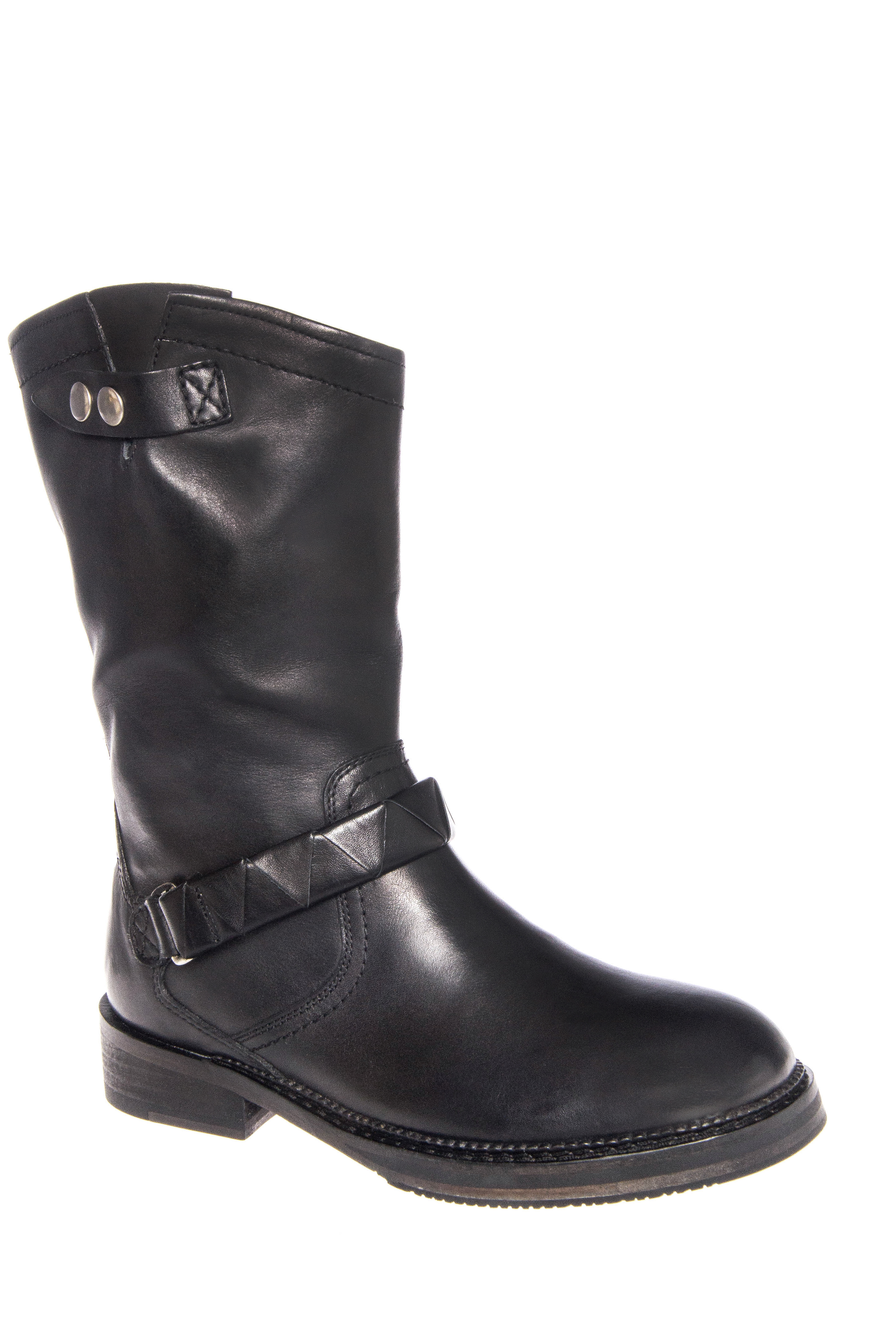 H By Hudson Boundary Low Heel Boots - Black