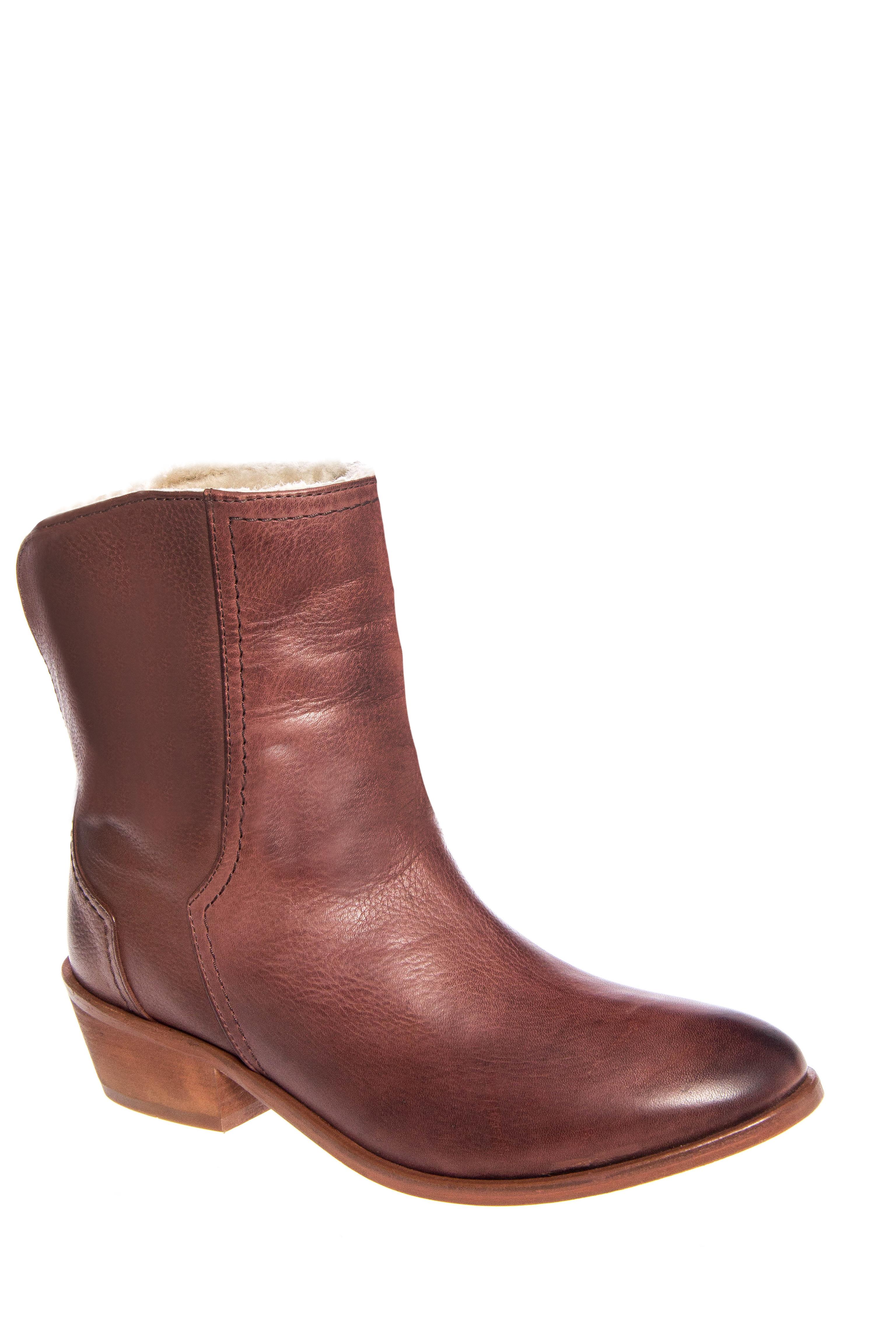 H By Hudson Salli Low Heel Booties - Chocolate
