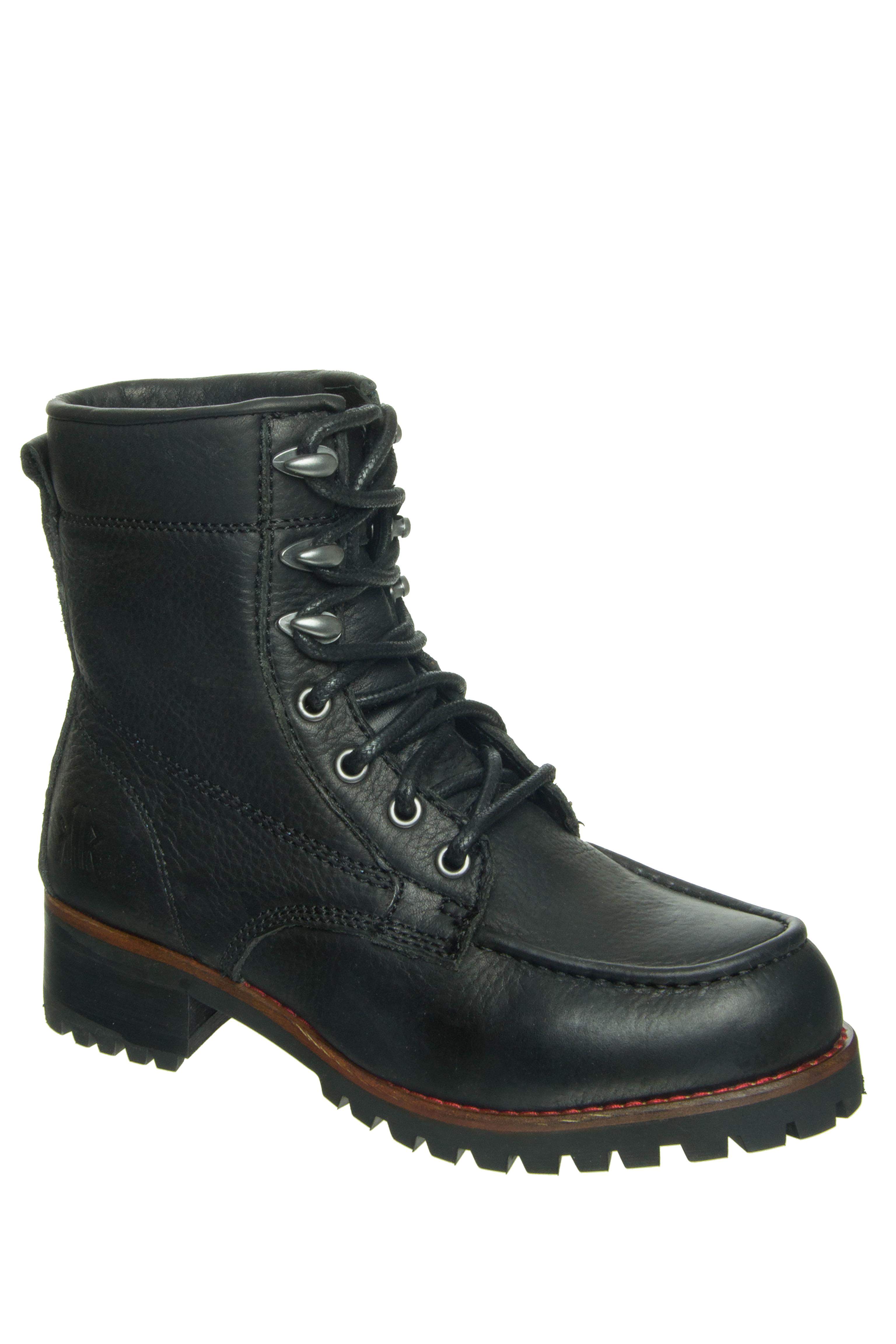 KLR Ryan Logger Low Heel Boots - Black