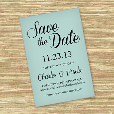 Save-the-Date Template with Script Typography | Download & Print