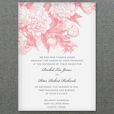 Rose & Scrolls Invitation Template | Download & Print
