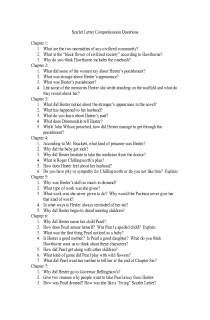 The Scarlet Letter Chapter Summaries Pdf