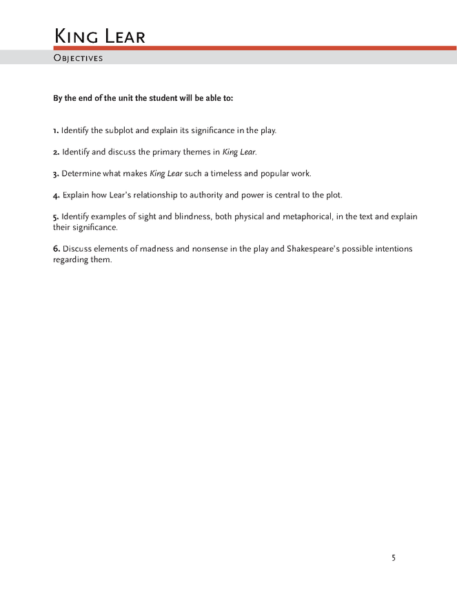 king lear lesson plan lesson plans literature   king lear lesson plan preview image 6