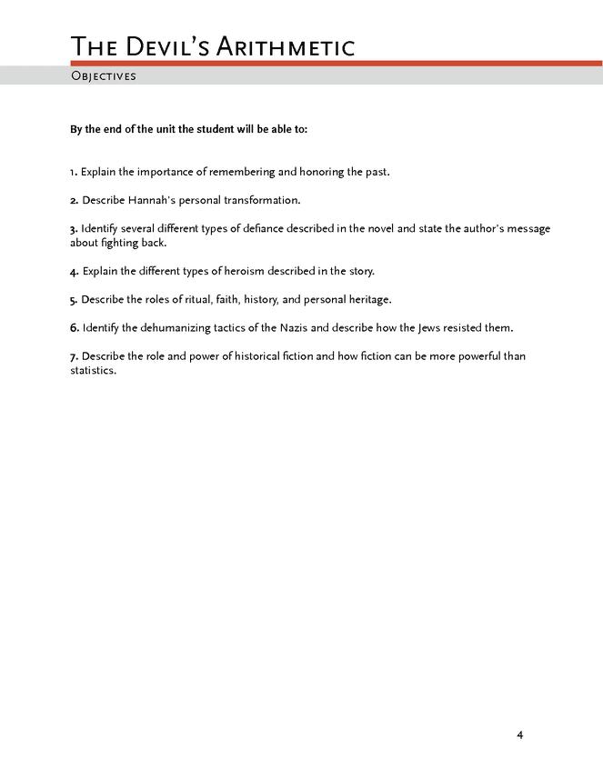 the devil's arithmetic enotes lesson plan preview image 4