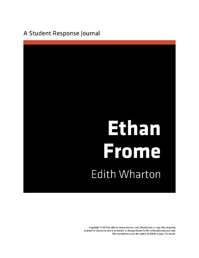a character analysis of ethan in the novel ethan frome by edith wharton Perhaps the best-known and most popular of edith wharton's novels, ethan frome is widely considered her masterpiece set against a bleak new england background, the novel tells of frome, his ailing wife zeena and her companion mattie silver, superbly delineating the characters of each as they are.