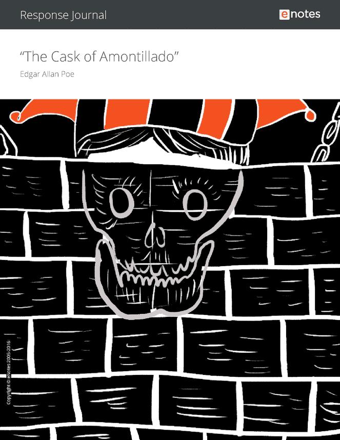 the cask of amontillado enotes response journal an activities