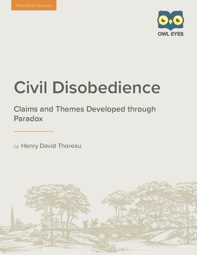Paradoxes in the essay civil disobedience