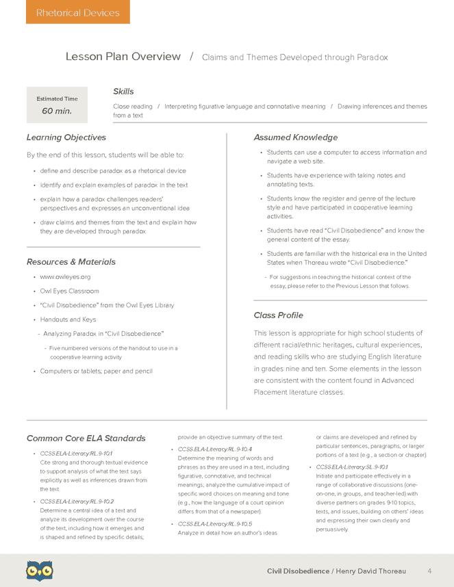 rhetorical analysis of civil disobedience essays Free essays letter from birmingham jail rhetorical analysis- martin luth essay  a massive act of civil disobedience (¶ 21-22)  from birmingham jail.