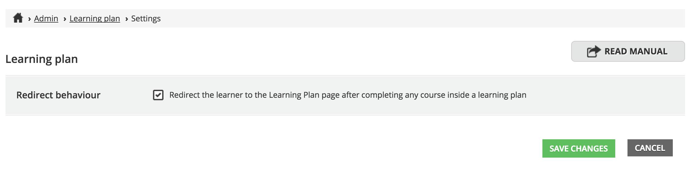 Redirect - Learning plan