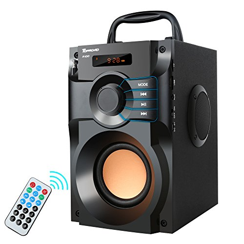 Portable Bluetooth Speaker 10W Subwoofer Heavy Bass Wireless Outdoor  Speaker MP3 Player Line In Speakers Support Remote Control FM Radio TF Card  LCD
