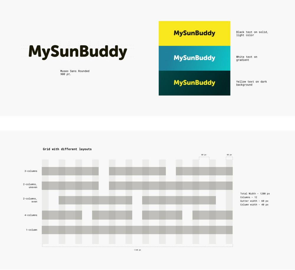 Logo and color palette samples