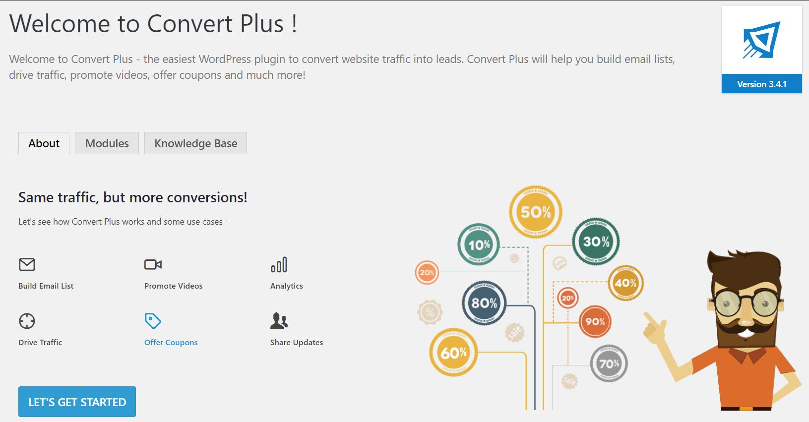 ConvertPlus Dashboard