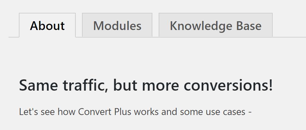 ConvertPlus Modules