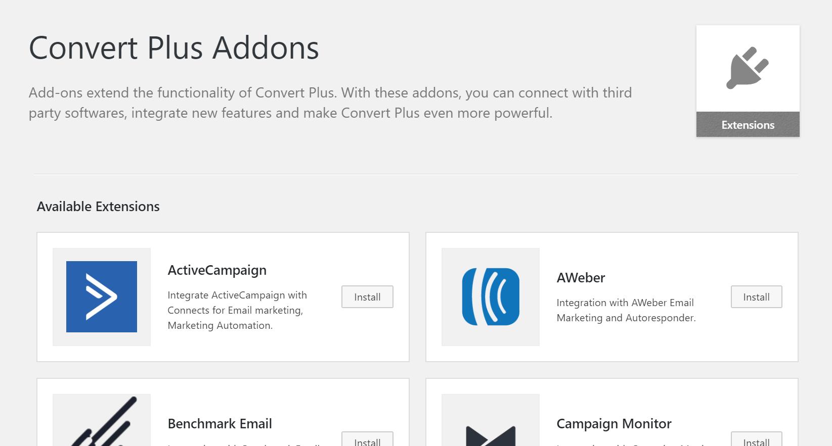 ConvertPlus Addons