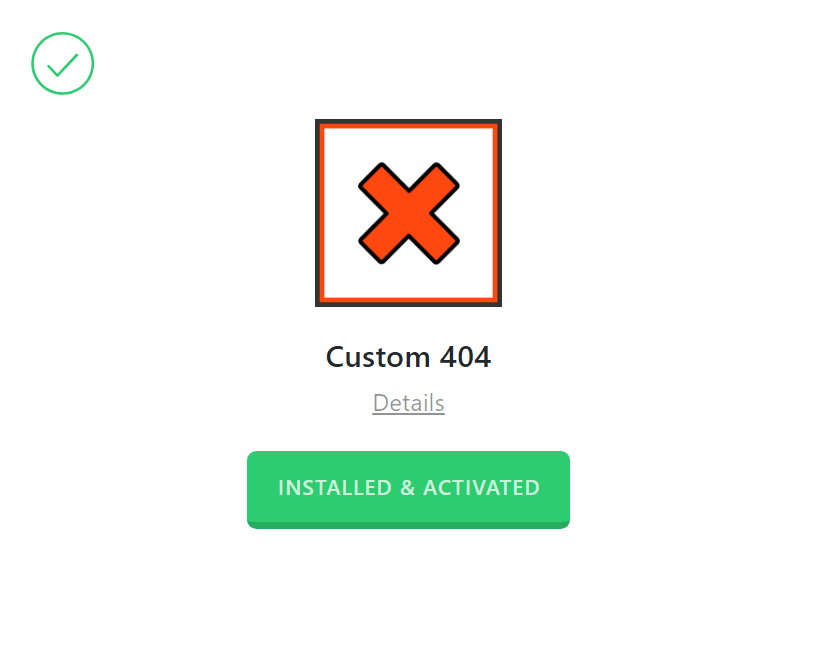 Custom 404 Activation