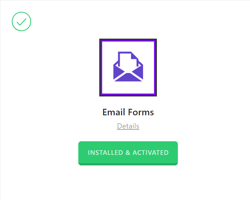 Email Forms Activated