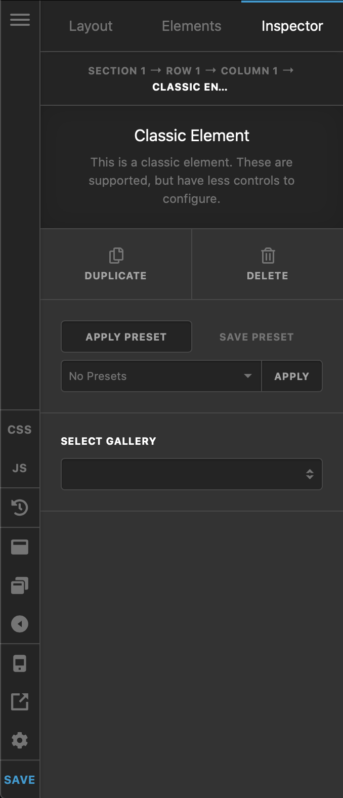 Cornerstone / Content Builder Envira Gallery Element Settings