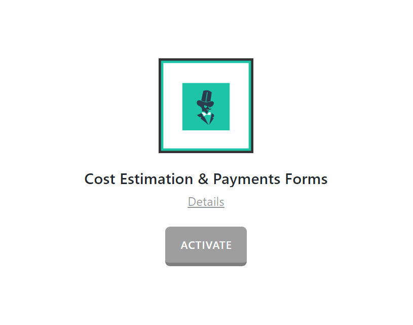 Estimation & Payment Forms Activate