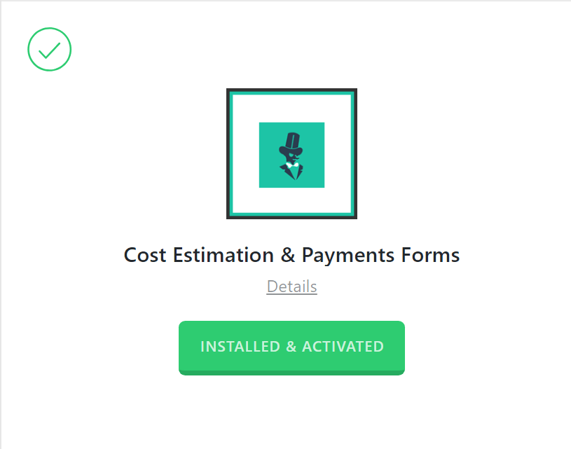 Estimation & Payment Forms Activated