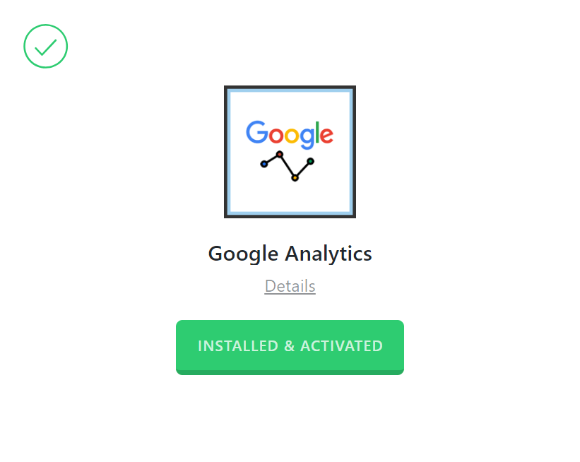 Google Analytics Activated