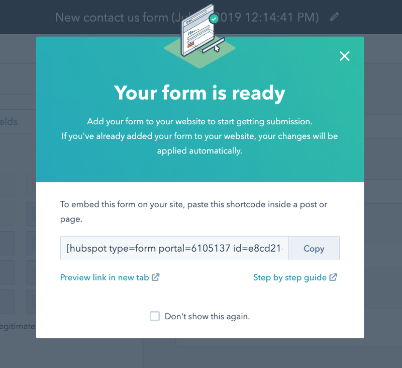 HubSpot Form Shortcode