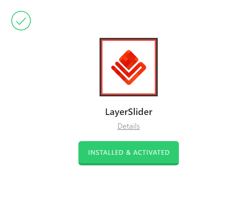 LayerSlider Activated
