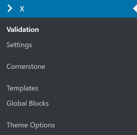 X > Validation