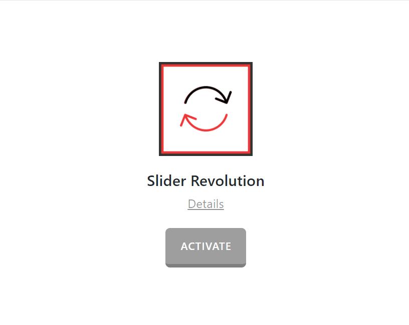 Slider Revolution Activate