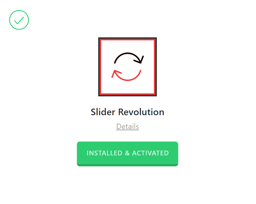 Slider Revolution Activated