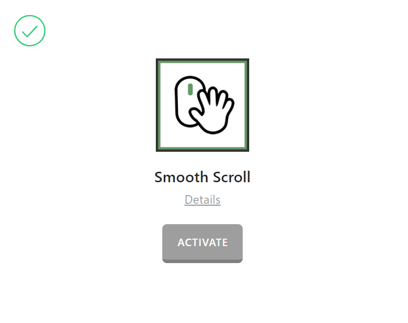 Smooth Scroll Activate