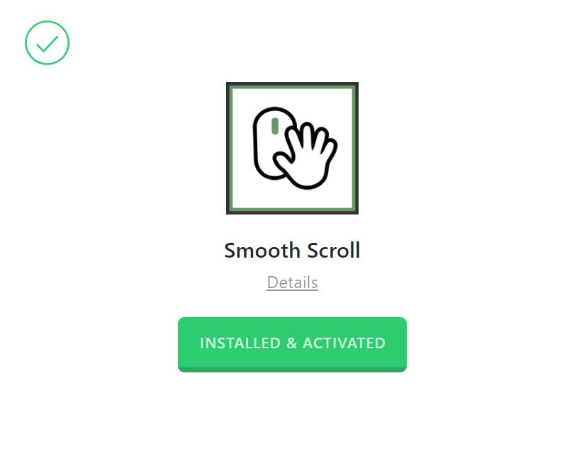 Smooth Scroll Activated