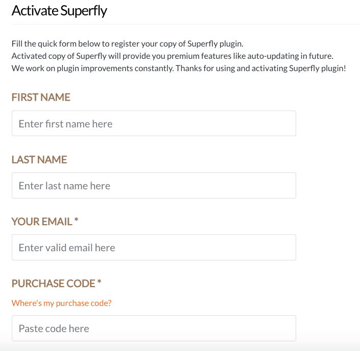 Superfly Activation