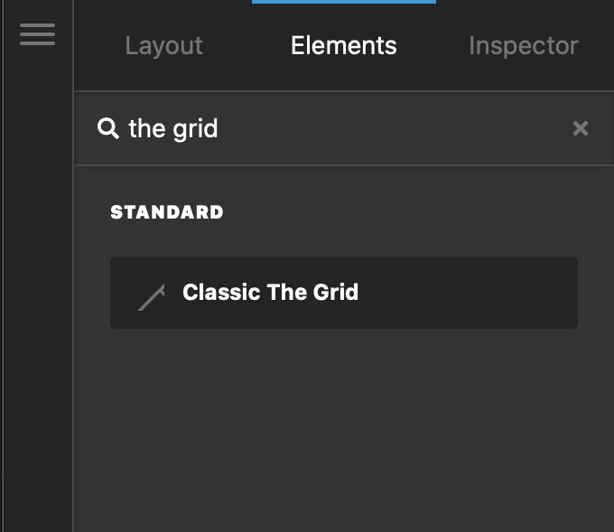 The Grid Element