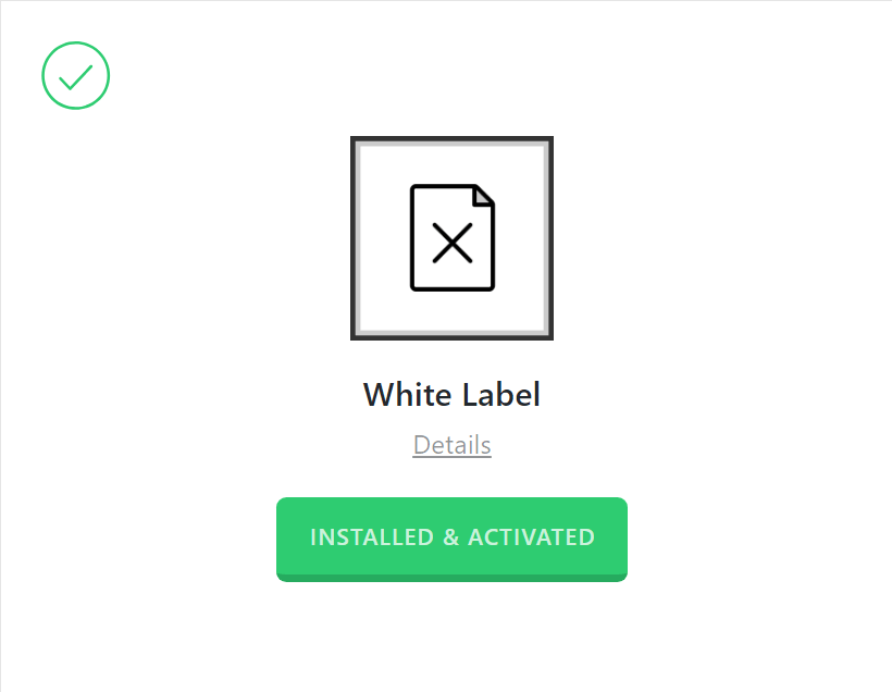 White Label Activated